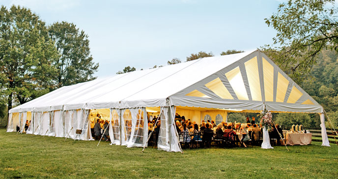 Wedding Tent Rentals Decorating The Inside For The Outdoors